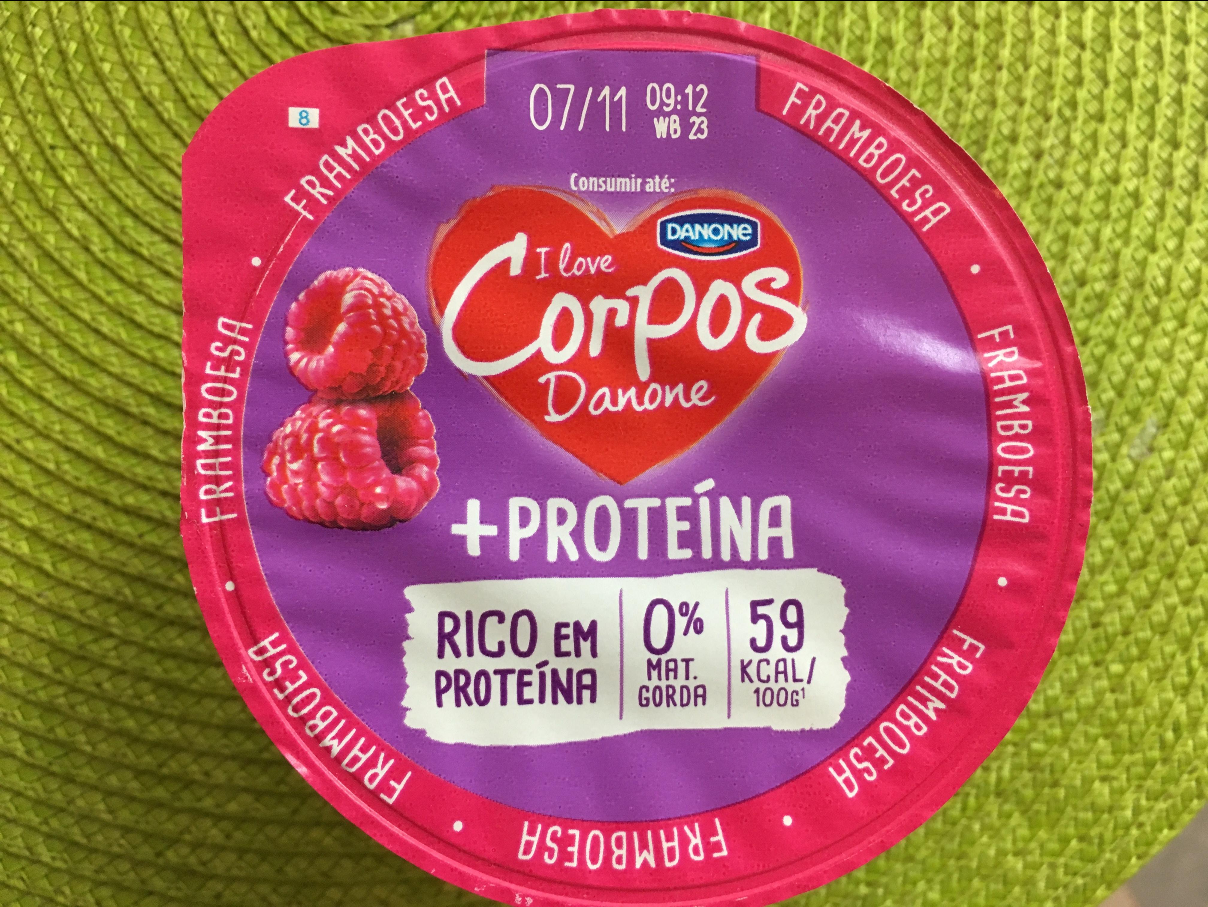 Corpos Danone + Proteína Framboesa