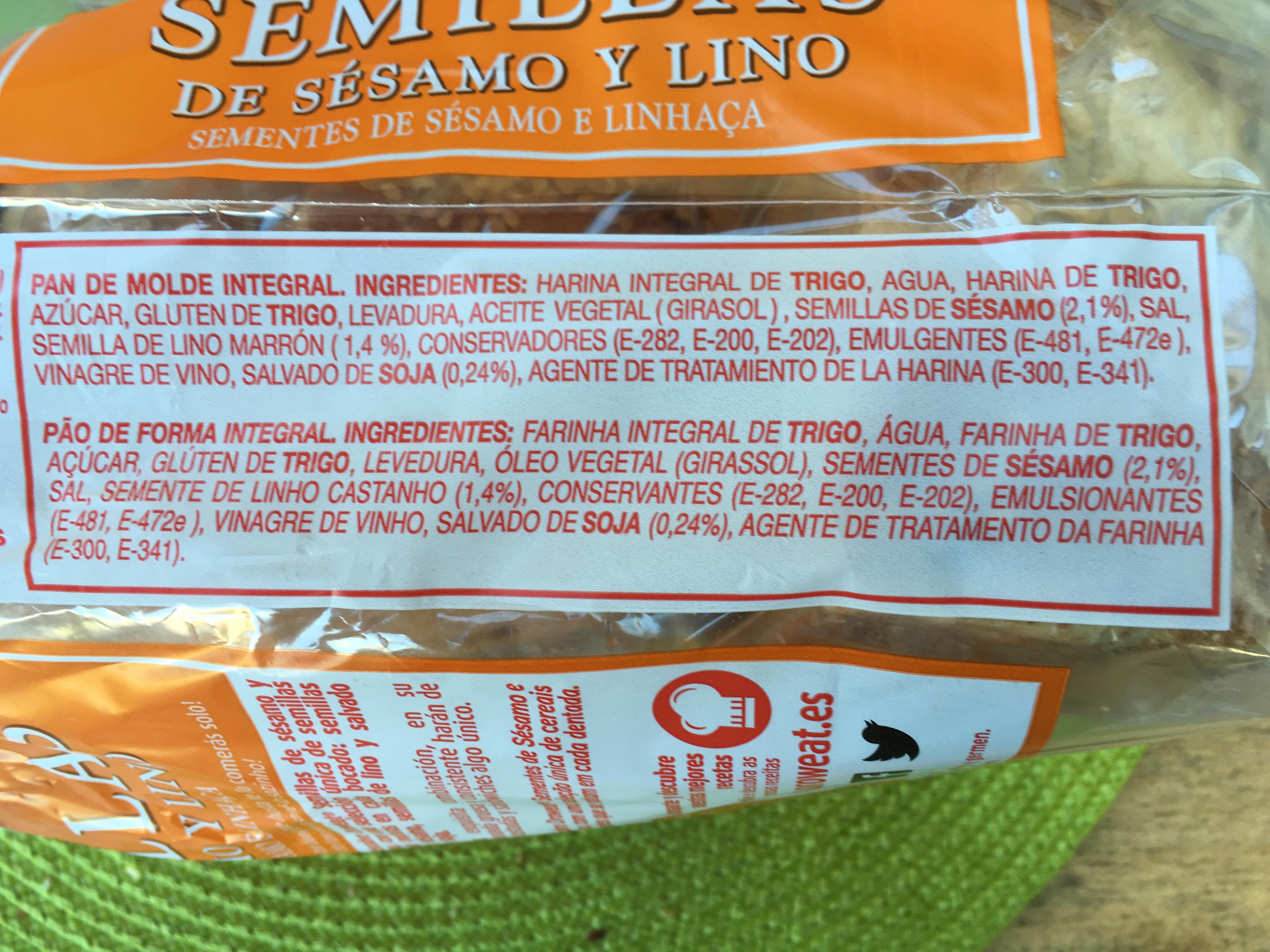 Pão Oroweat ingredientes