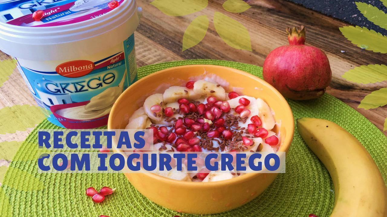 Receitas com iogurte grego
