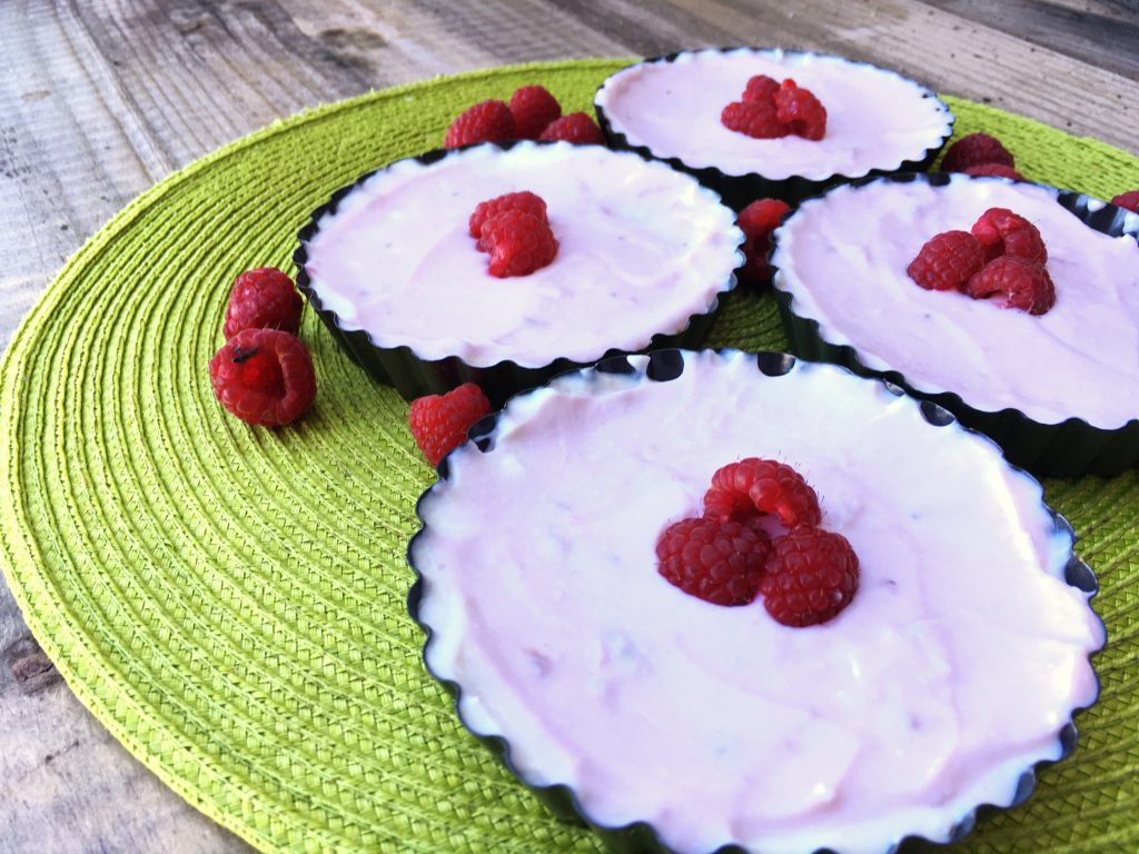 mini tartes de cheesecake saudável