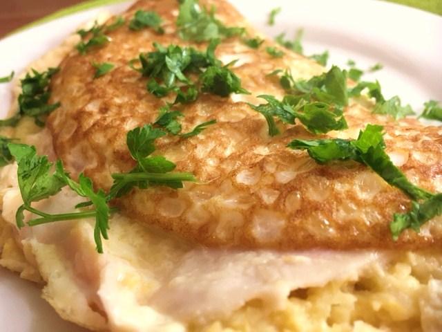 omelete saudável de húmus - final