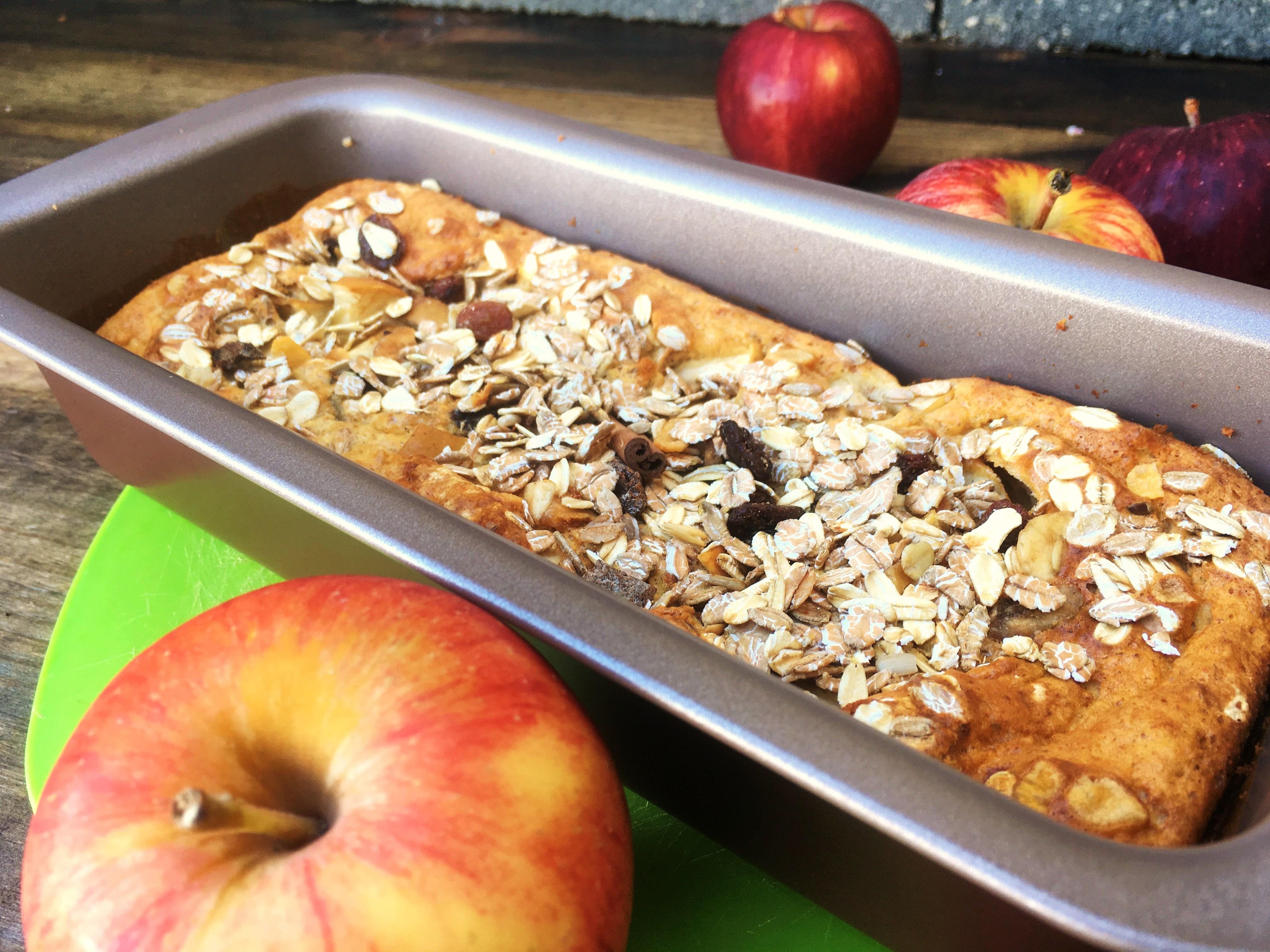 bolo proteico de maçã e canela final