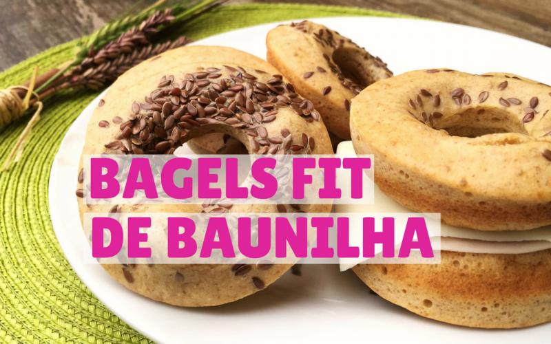 bagels fit de baunilha