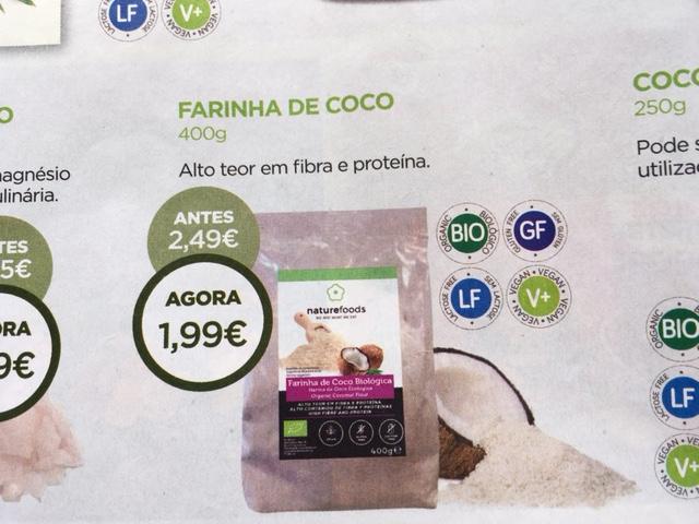 farinha de coco - celeiro promoções