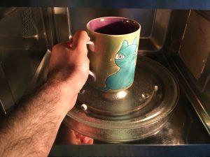 bolo café caramelo - microondas