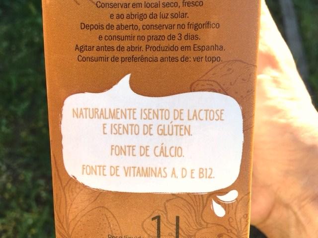 bebida de amêndoa sem lactose