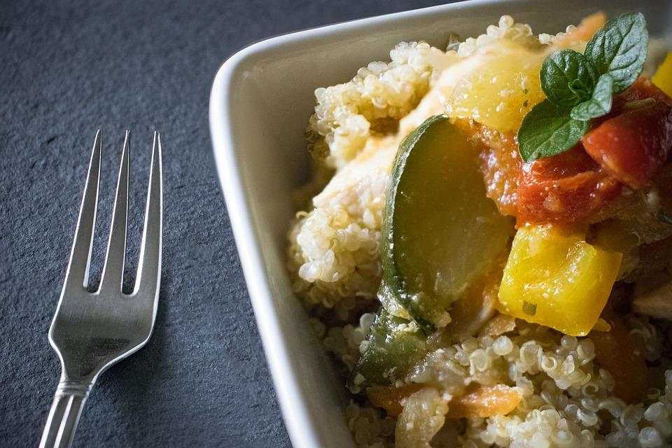 jantar sem hidratos - quinoa