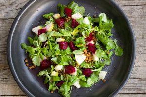 jantar sem hidratos - salada de lentilhas