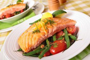 jantar sem hidratos - salmão feijão verde