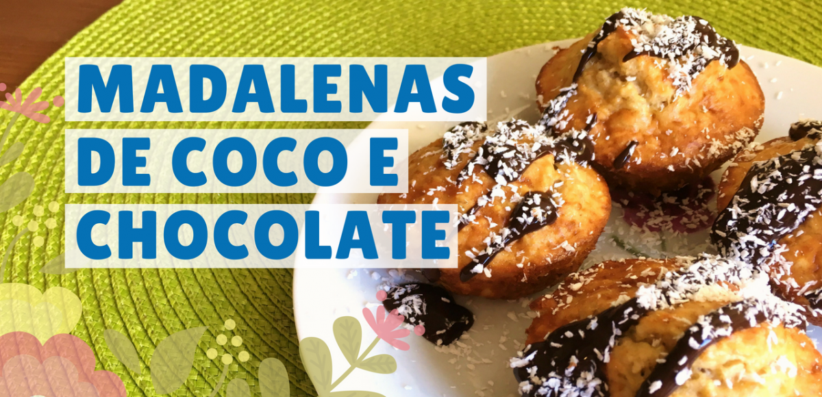 madalenas fit de coco e chocolate