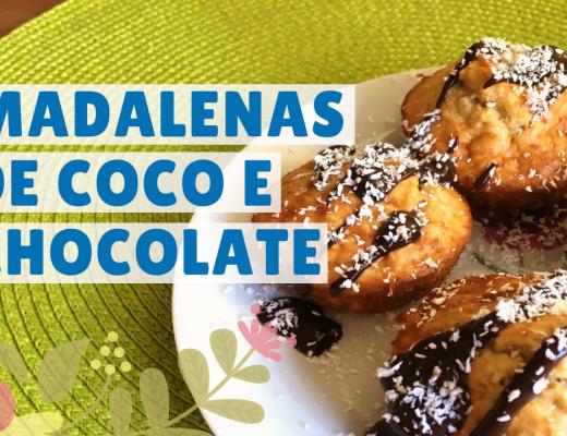 madalenas fit de coco e chocolate