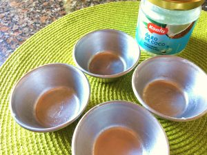 madalenas fit de coco e chocolate - oleo