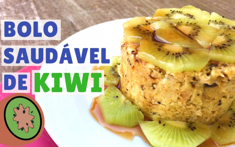 bolo saudável de kiwi no microondas