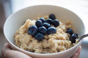 pequeno almoço saudável de aveia