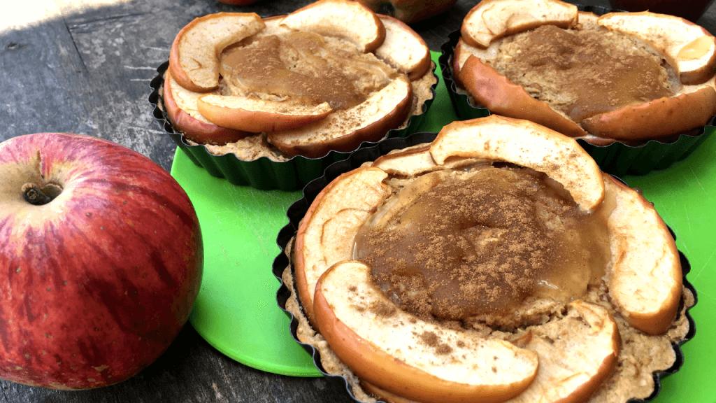 tarte de maçã proteica