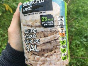 substitutos de pão - bolachas de arroz