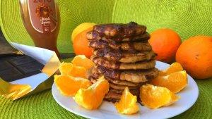 panquecas de larajan e chocolate