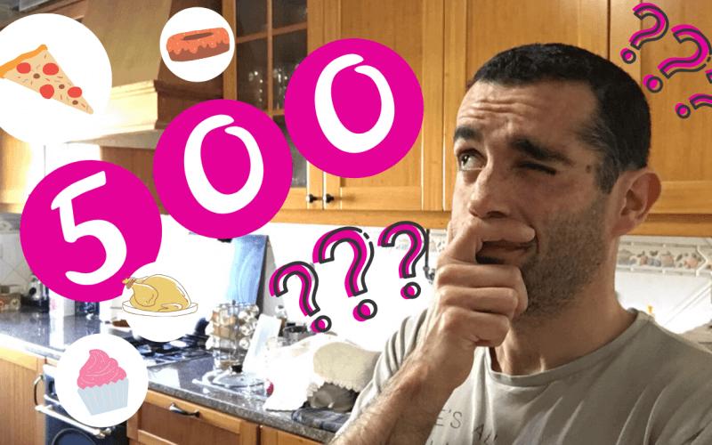 500 calorias em alimentos