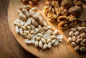 frutos secos 500 calorias em alimentos