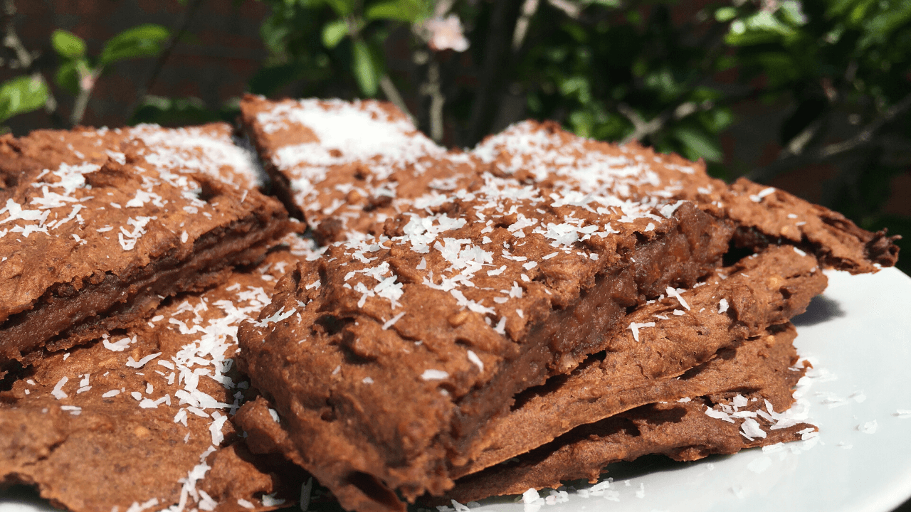 brownies de batata doce e chocolate