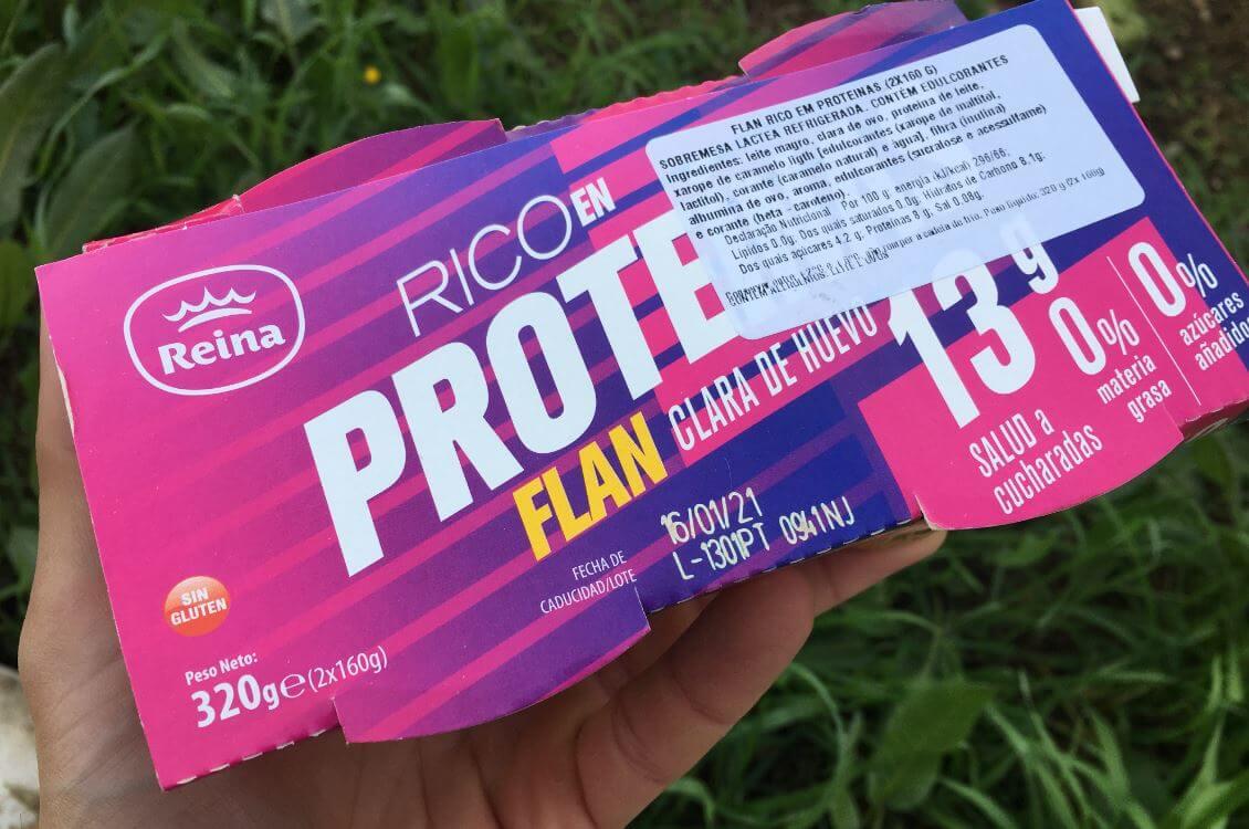 pudim flan proteico reina