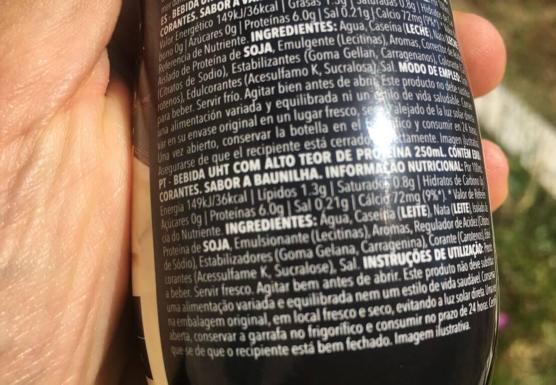 zero shake prozis ingredientes