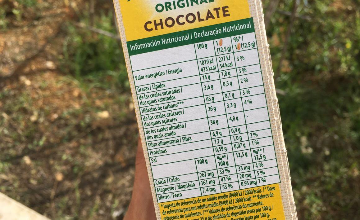 belvita informação nutricional