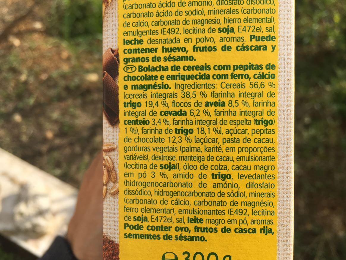 belvita ingredientes